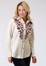 Old West Collection Oldwest Womens Long Sleeve Shirt 1360 Poly Rayon Gabardine