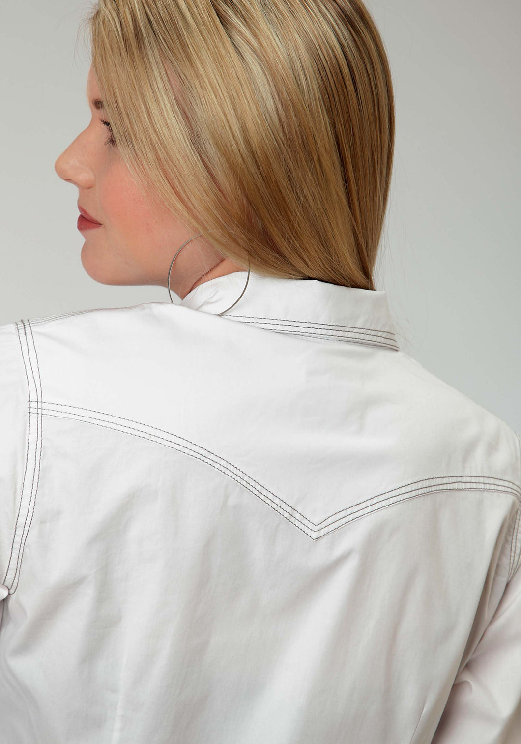 Performance Collection Westm Womens Long Sleeve Shirt 0855 Solid White Poplin