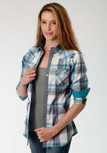 Performance Collection Westm Womens Long Sleeve Shirt 0849 Aviator Plaid