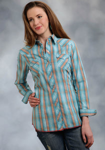 Performance Collection- Spring I Westm Ladies Long Sleeve Shirt 0190 Ombre Dobby Plaid