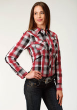 West Made Collection Westm Womens Long Sleeve 3820 Grey Plaid