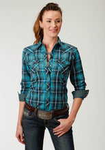 West Made Collection Westm Womens Long Sleeve 2058 Pine Plaid