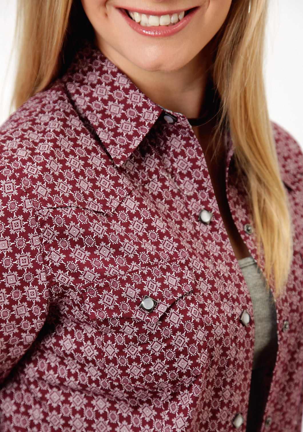 Performance Collection Westm Womens Long Sleeve Shirt 0631 Petite Stars Print