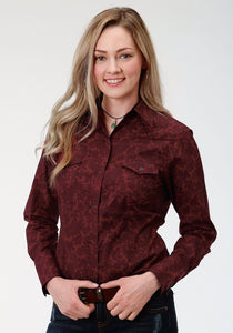 Performance Collection Westm Womens Long Sleeve Shirt 1254 Regal Line Paisley