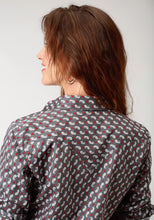 West Made Collection Westm Womens Long Sleeve Shirt 1745 Paisley Neat