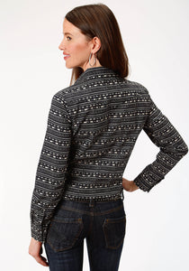 West Made Collection Westm Womens Long Sleeve 0780 Zig Zag Print