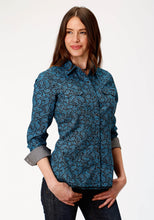 West Made Collection Westm Womens Long Sleeve 0785 Paisley Crackle