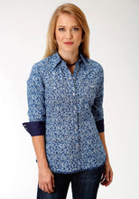 West Made Collection Westm Womens Long Sleeve Shirt 1536 Symmetry Paisley