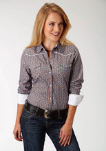 West Made Collection Westm Womens Long Sleeve Shirt 1538 Moonlight Geo