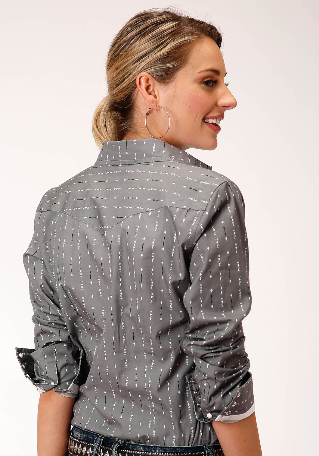 West Made Collection Westm Womens Long Sleeve 00185 North South Print