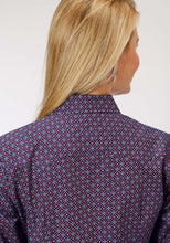 Ladies Amarillo Collection- Old Glory Amarillo Womens Long Sleeve Shirt 1190 Diamond Bubbles