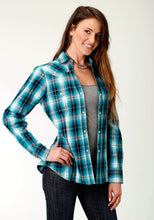 Ladies Amarillo Collection- Blue Spruce Amarillo Womens Long Sleeve 2233 Blue Mesa Plaid