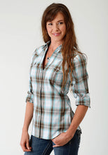 Ladies Amarillo Collection- Sage Trail Amarillo Womens Long Sleeve Shirt 1674 Sage Creek Plaid