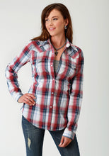 Ladies Amarillo Collection- Route 66 Amarillo Womens Long Sleeve Shirt 1679 Independence Plaid