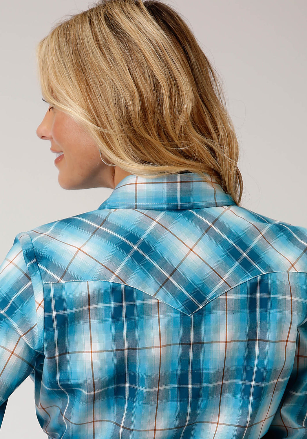 Women's Amarillo Collection - Desert Sky Amarillo Womens Long Sleeve 00163 Blue Mesa Plaid