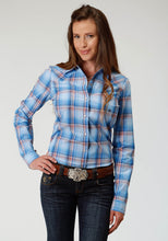 Ladies Amarillo Collection- Day Break Amarillo Womens Long Sleeve 3282 Skye Plaid