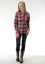 Ladies Amarillo Collection- Brick Mortar Amarillo Womens Long Sleeve Shirt 0551 Brick Plaid