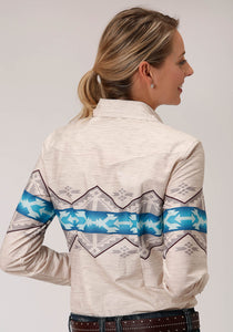 West Made Collection Westm Womens Long Sleeve 00189 Aztec Border