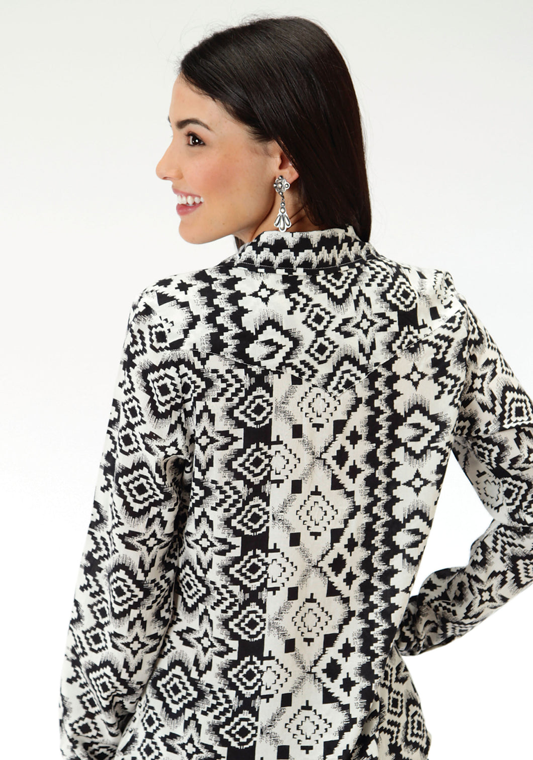 Five Star- Retro Pop 5star Womens Long Sleeve Shirt 0804 Aztec Print Shirt