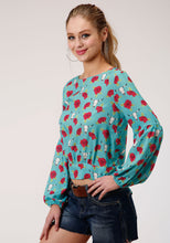Five Star Collection- Spring Iii 5star Womens Long Sleeve 00119 Printed Rayon Top