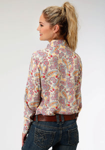 Five Star Collection- Summer I 5star Womens Long Sleeve 6800 Sunflower Paisley