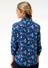Five Star Collection- Summer Ii 5star Womens Long Sleeve 7093 Summer Aztec Print Ls Wstn Shirt