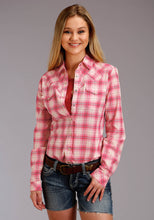 Five Star Collection- Spring I 5star Womens Long Sleeve 2752 Pink Plaid Ls Western Shirt