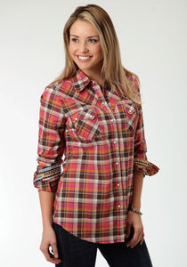 Five Star- Spice Girl 5star Womens Long Sleeve Shirt 0511 Mohave Plaid