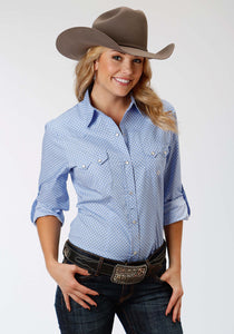 Ladies Amarillo Collection- Black Jack Amarillo Womens Long Sleeve Shirt 0971 Chain Link