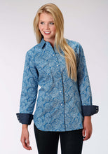 Performance Collection Westm Womens Long Sleeve Shirt 1006 Stitch Line Paisley