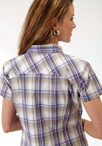 Ladies Amarillo Collection- Bridle Path Amarillo Womens Short Sleeve Shirt 0829 Purple Sage