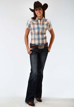 Ladies Amarillo Collection- Sundown Amarillo Womens Short Sleeve Shirt 0965 Canyon Ombre Plaid