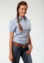Ladies Amarillo Collection- Day Break Amarillo Womens Short Sleeve 3288 Miles Plaid