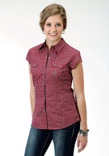 Ladies Amarillo Collection- Crossfire Amarillo Womens Short Sleeve Shirt 0838 Diamond Stop Print