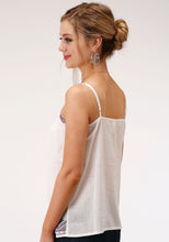 Five Star Collection- Spring Ii 5star Womens Sleeveless 00127 Cotton Crepe Spaghetti Strap Top