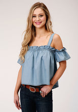 Five Star Collection- Spring Iii 5star Womens Sleeveless 00123 Slvls Denim Top