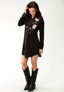 Old West Collection Oldwest Womens Long Sleeve Dress 3108 Retro Dress Wfloral Embroidery