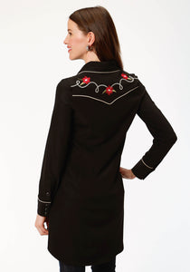 Old West Collection Oldwest Womens Long Sleeve Dress 1492 Poly Spandex Retro Dress