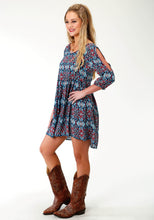 Five Star Collection- Spring Iii 5star Womens Long Sleeve Dress 2754 Sunset Tapestry Dress