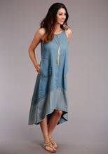 Studio West- Blue Bayou Swest Womens Sleeveless Dress 00102 5 Oz Denim Slvls Dress