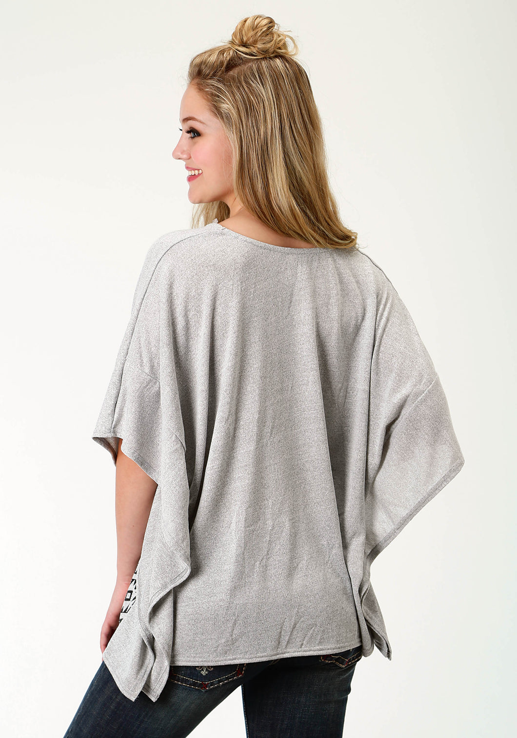 Five Star- Summer Ii 5star Womens Sleeveless Shirt 1774 Sweater Knit Poncho