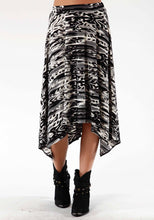 Studio West- Wildwood Swest Womens Skirt 0431 Feather Ikat Printed Jersey Skirt