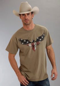 Americana Collection Americana Unisex Short Sleeve Shirt Americana Eagle Screen Print