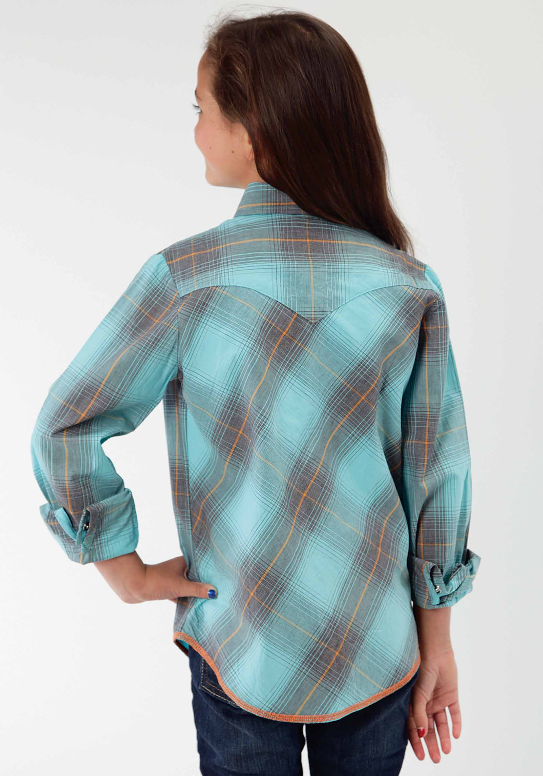 Performance Collection Performan Girls Long Sleeve Shirt 0435 Thorn Plaid
