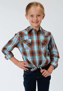 Performance Collection Westm Girls Long Sleeve Shirt 0999 Copper Check