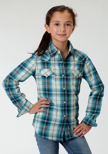 Performance Collection Westm Girls Long Sleeve Shirt 0616 Canyon Dobby Plaid