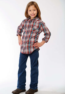 Performance Collection Westm Girls Long Sleeve Shirt 1237 Fall Plaid
