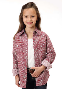 Performance Collection Westm Girls Long Sleeve Shirt 0845 Ironwork Print