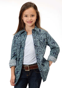 Performance Collection Westm Girls Long Sleeve Shirt 0846 Eddy Paisley