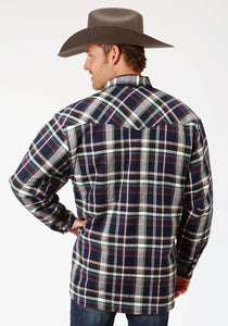 Outer Mens Jacket 9372 Grnabr Plaid Sherpa Lined Jckt